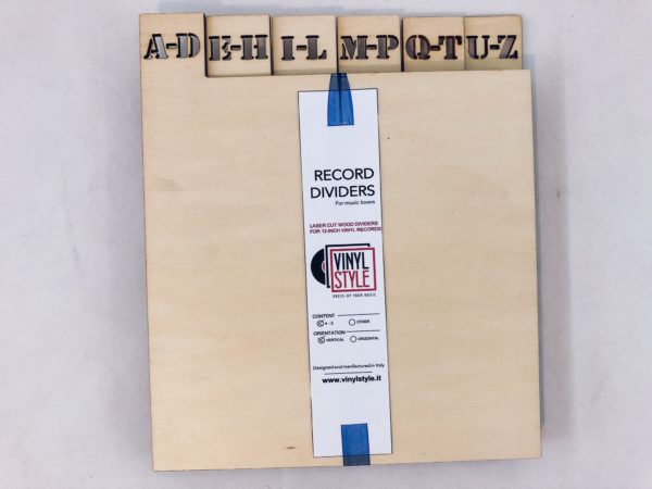 6 Horizontal Vertical A-Z Record Dividers, Stencil