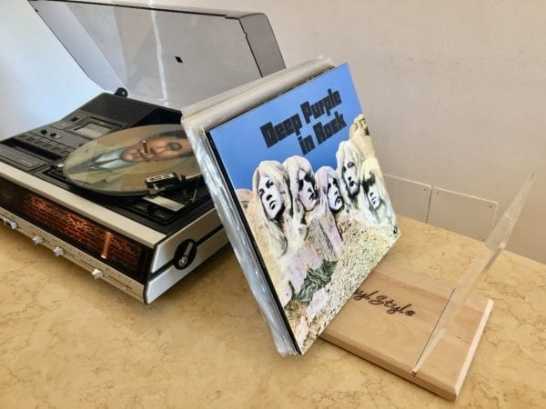 Desktop record stand